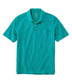 Premium Double L Polo, Hemmed Short-Sleeve with Pocket