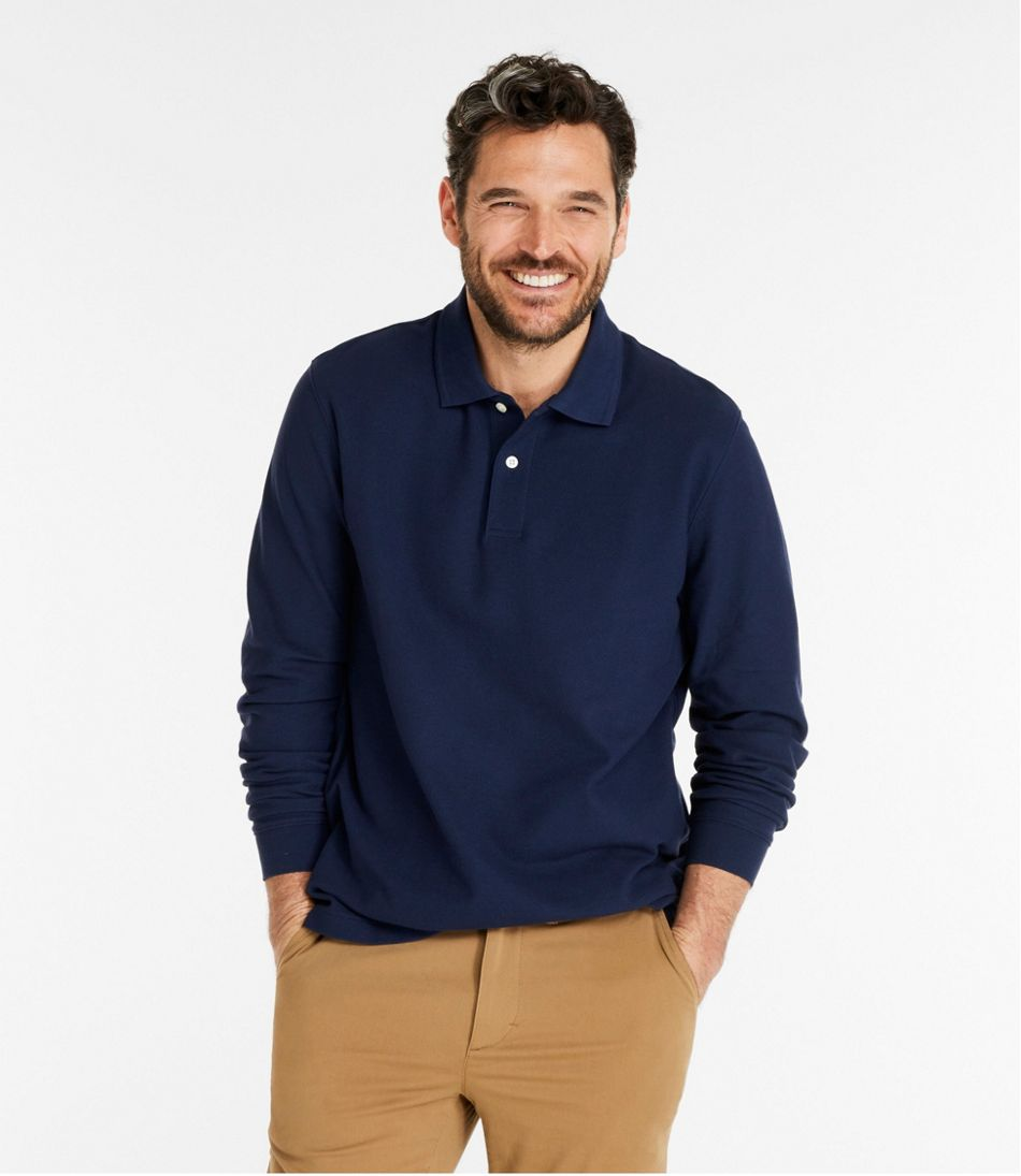 Men's Premium Double L® Polo, Long-Sleeve Without Pocket