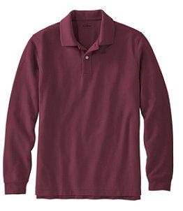 Men's Premium Double L Polo, Long-Sleeve Without Pocket