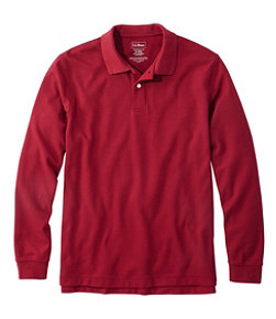 Men's Premium Double L Polo, Long-Sleeve Without Pocket