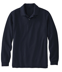 Premium Double L Polo, Long-Sleeve Without Pocket