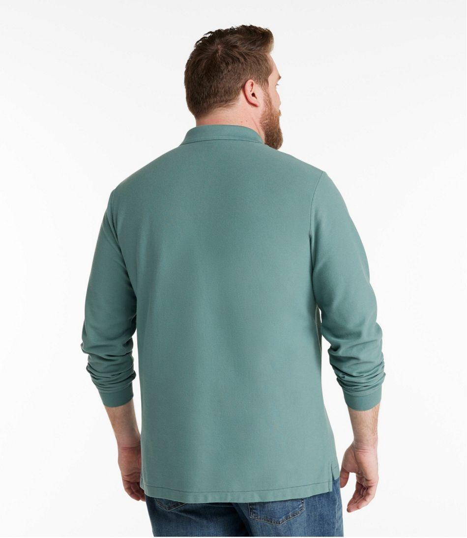 Men's Premium Double L® Polo, Long-Sleeve Without Pocket