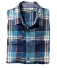 Signature Indigo Flannel Shirt, Check