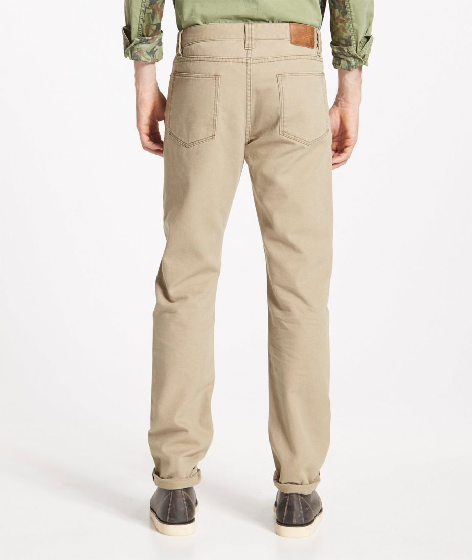 Signature Canvas Five-Pocket Pants, Slim Straight