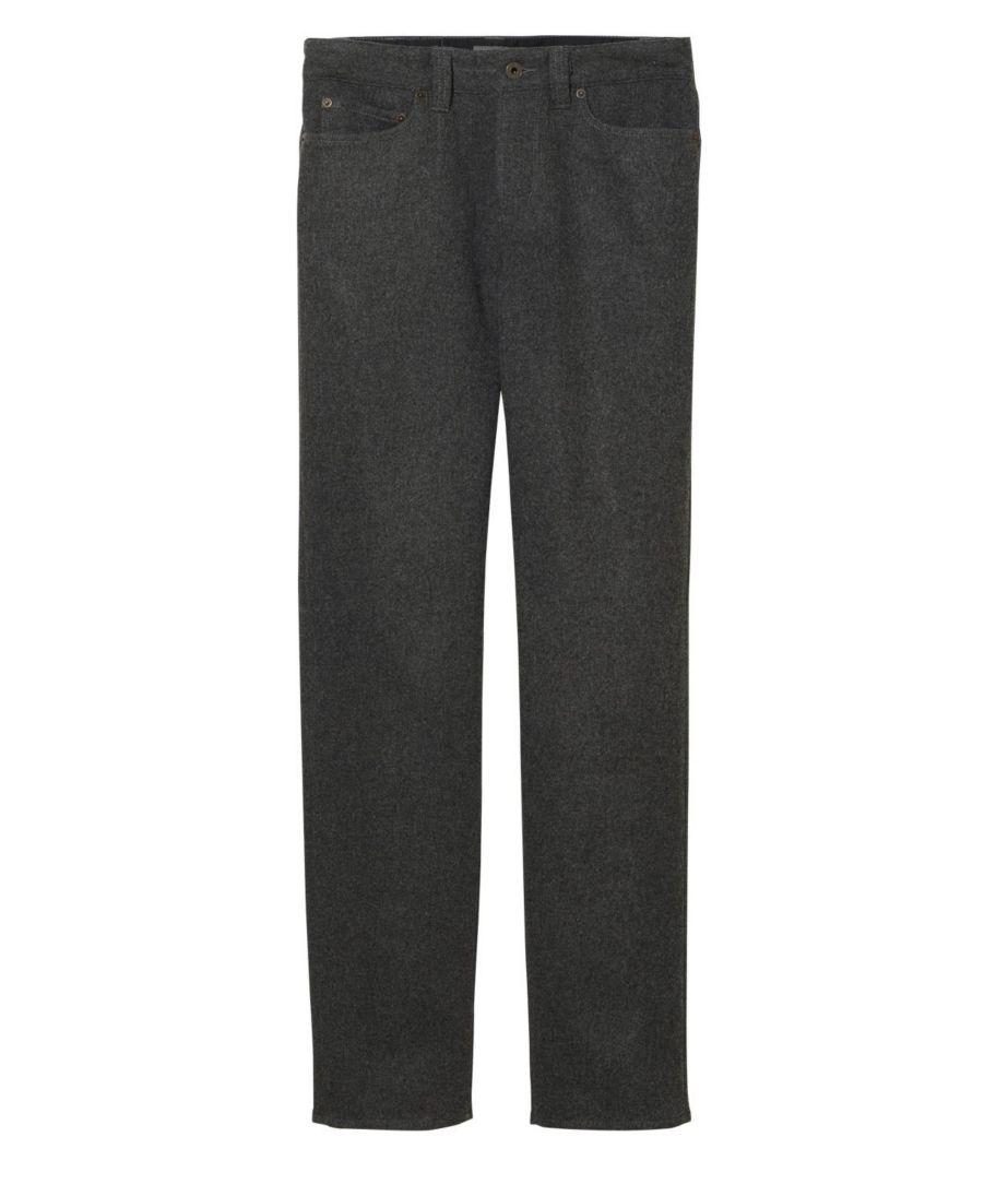 Signature Five-Pocket Pants, Wool Blend