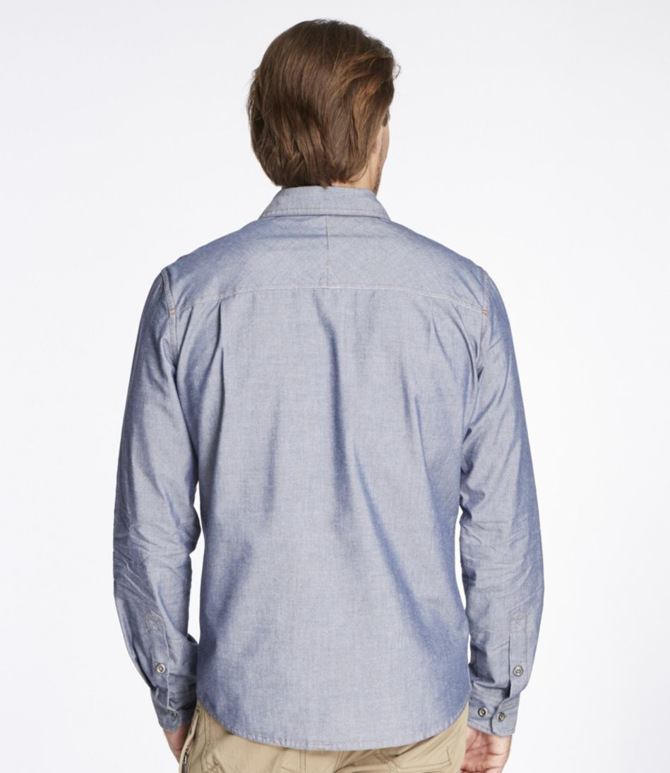 Perimeter Performance Chambray Shirt, Long-Sleeve