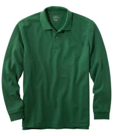 Men's Premium Double L Polo, Long-Sleeve