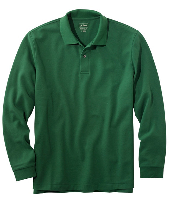 Premium Long-Sleeve Double L Polo, Camp Green, large image number 0