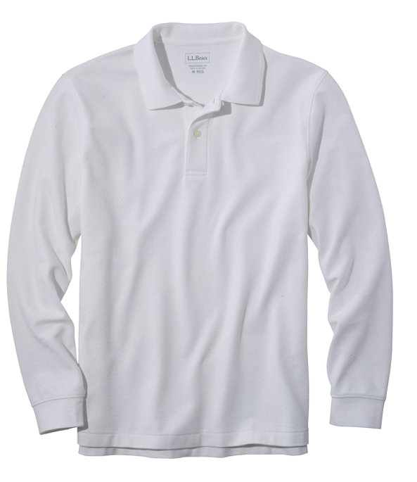 Premium Long-Sleeve Double L Polo, White, large image number 0