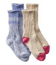 Kids' Cotton Ragg Socks, Two-Pack