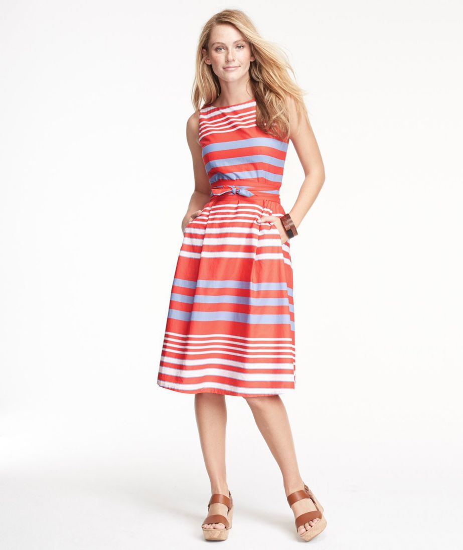 The Signature Poplin Dress, Stripe
