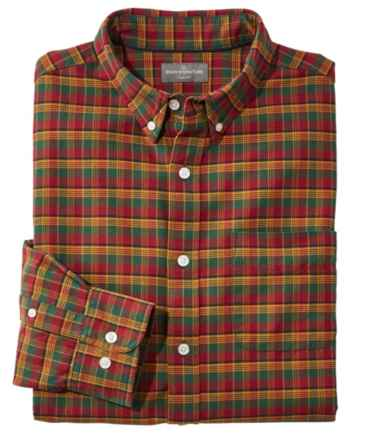 Signature Washed Oxford Cloth Shirt, Plaid
