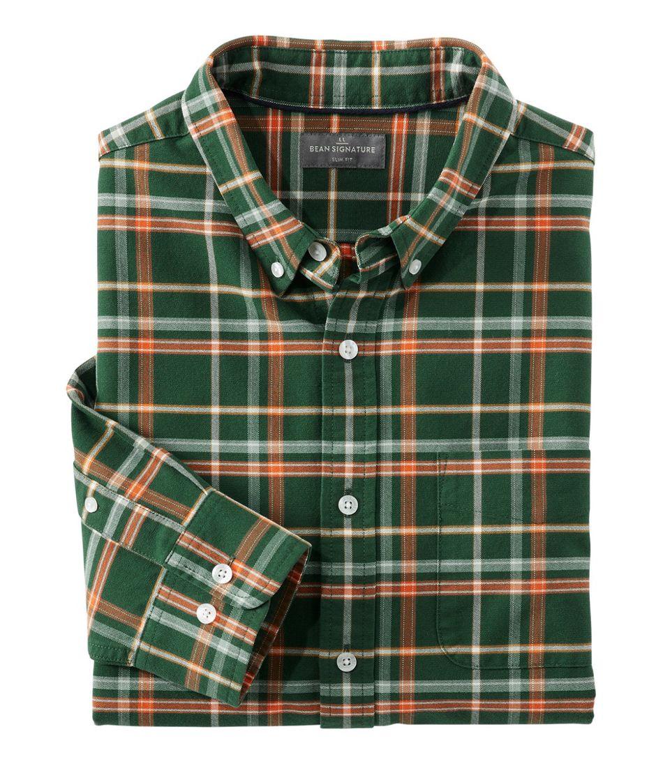 Men's Signature Washed Oxford Cloth Shirt, Plaid