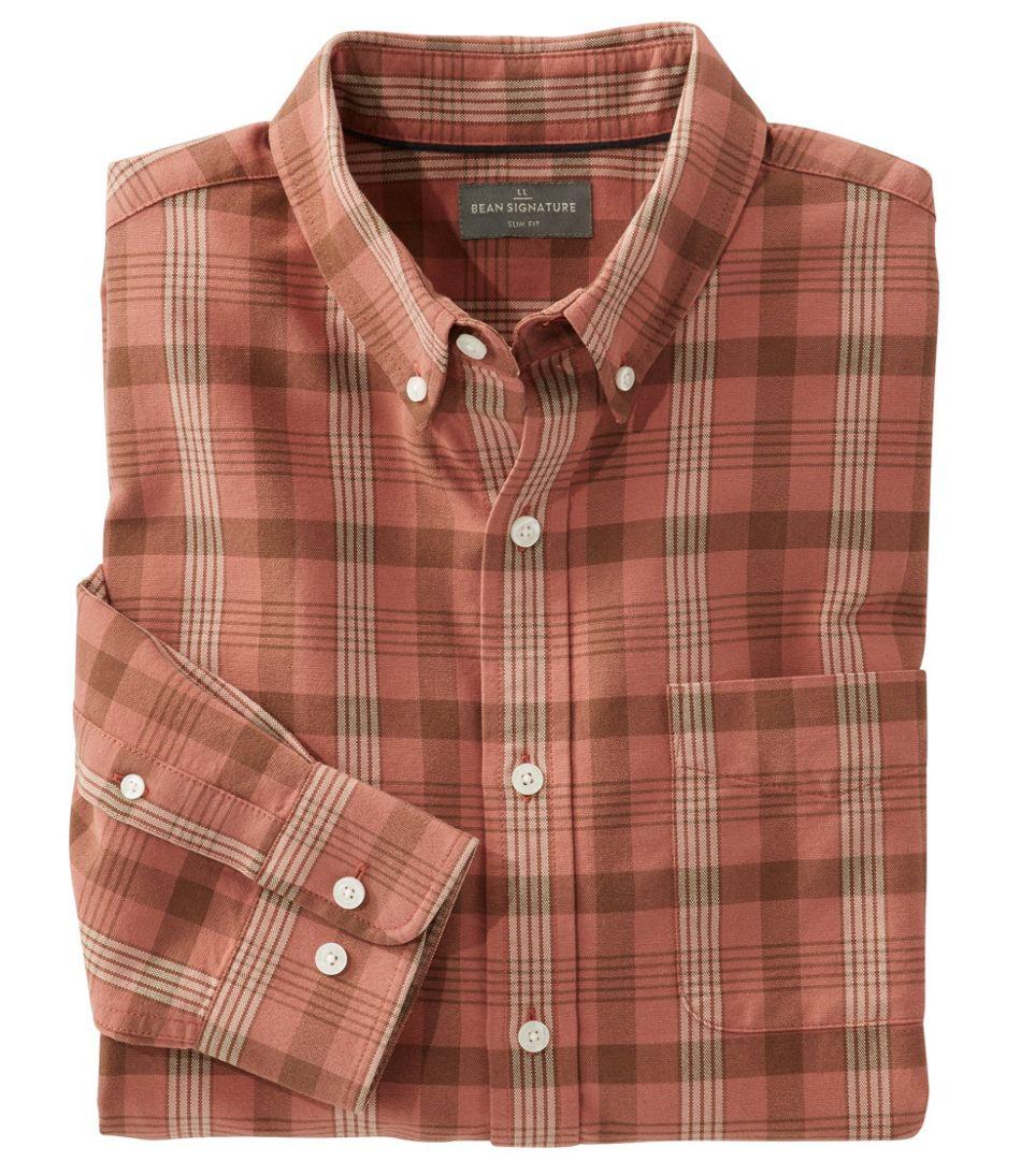 Signature Washed Oxford Cloth Shirt, Plaid