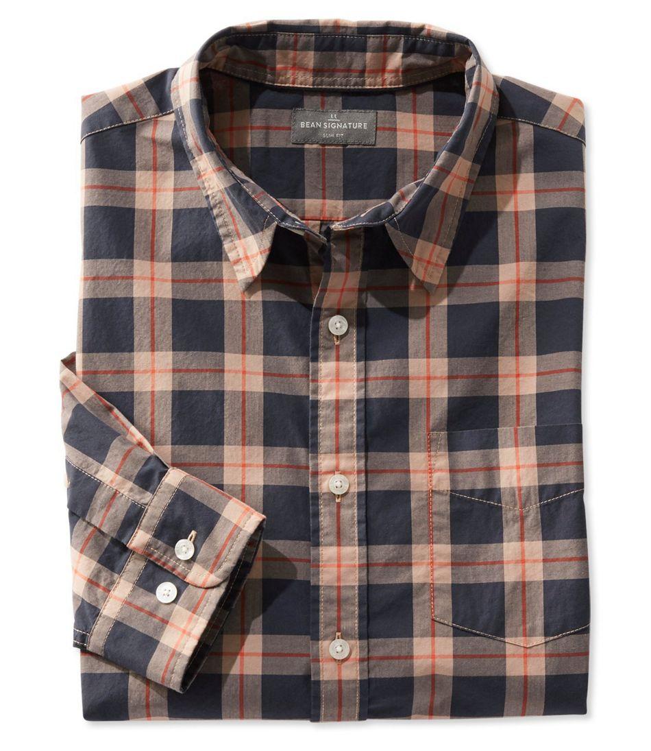 Signature Washed Poplin Shirt, Plaid