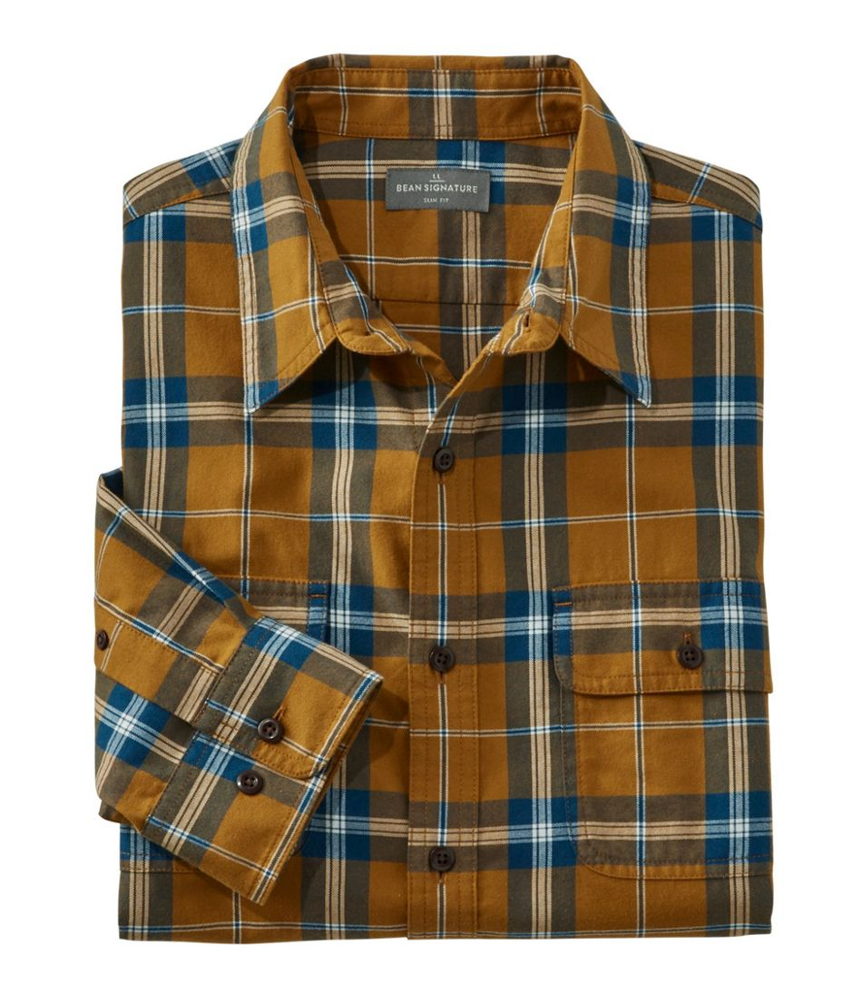 Men S Signature Castine Flannel Shirt Plaid