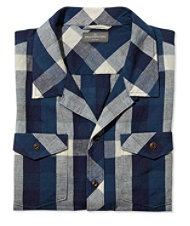 Signature Cotton/Linen Camp Shirt, Buffalo Check