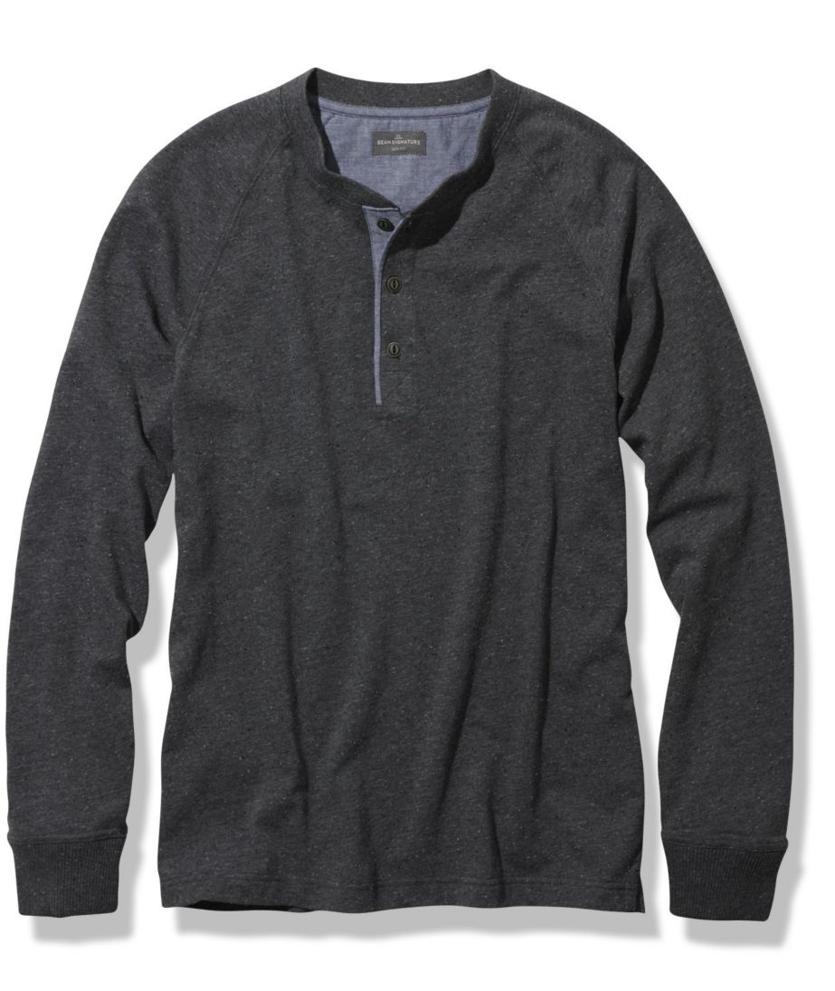 Signature Textured Knit Henley, Long-Sleeve
