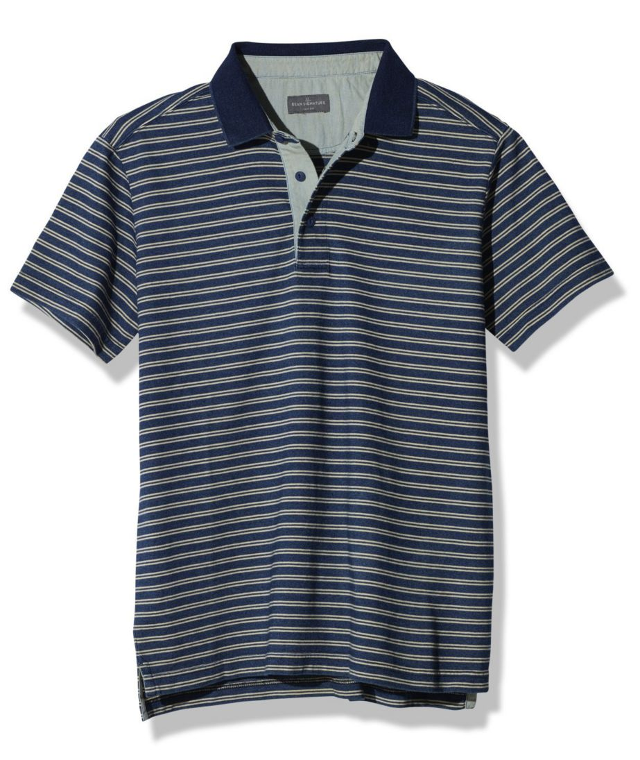 Signature Textured Knit Polo, Short-Sleeve Stripe
