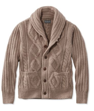 Signature Mapleton Wool Sweater, Shawl Collar Cardigan