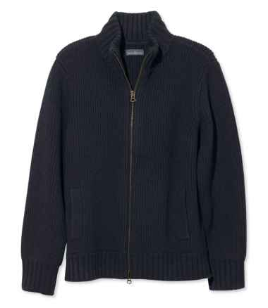 Signature Mapleton Wool Sweater, Zip Cardigan