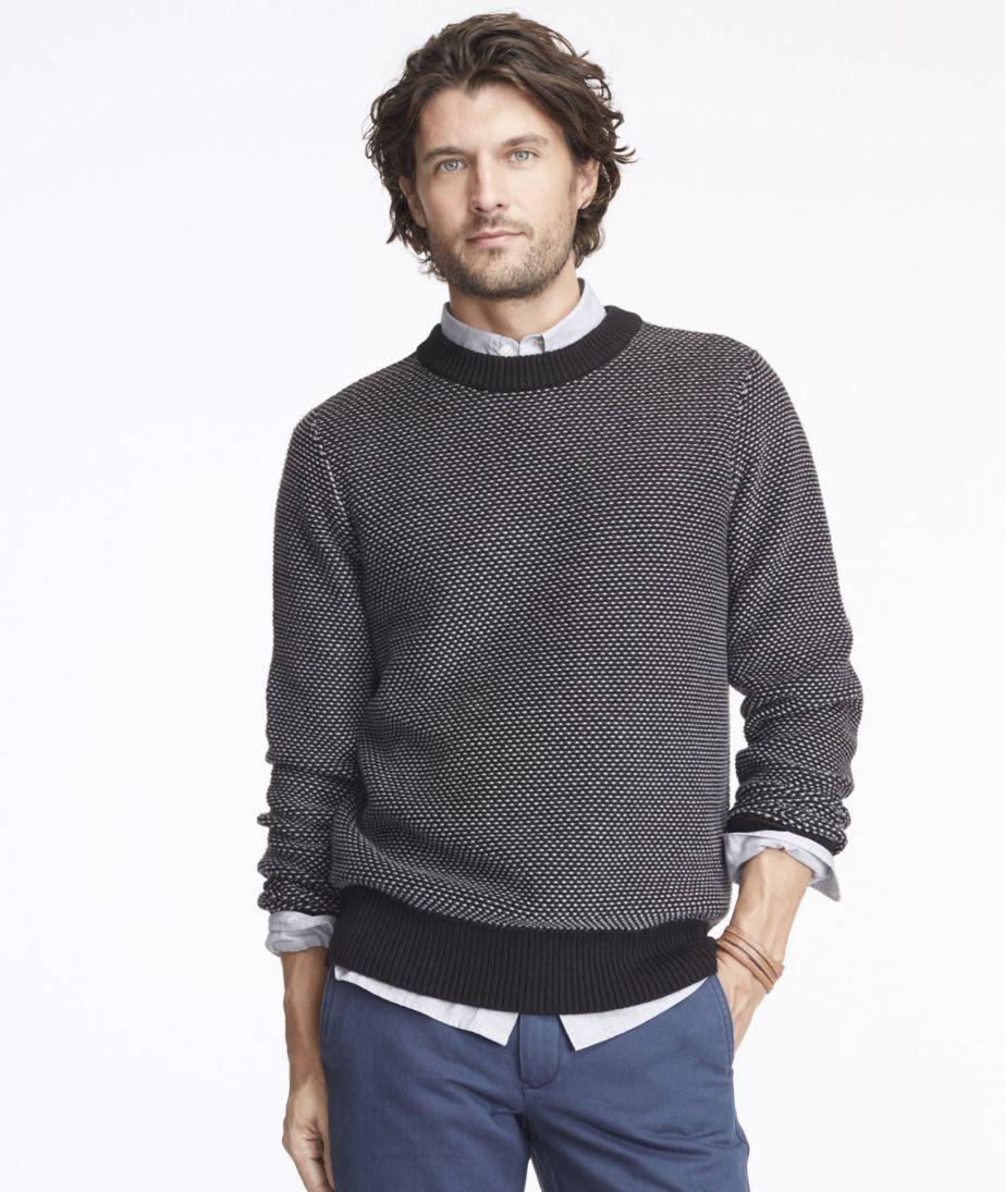 Signature Bird's-Eye Cotton Sweater