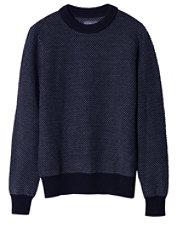 Signature Bird's-Eye Cotton Sweater