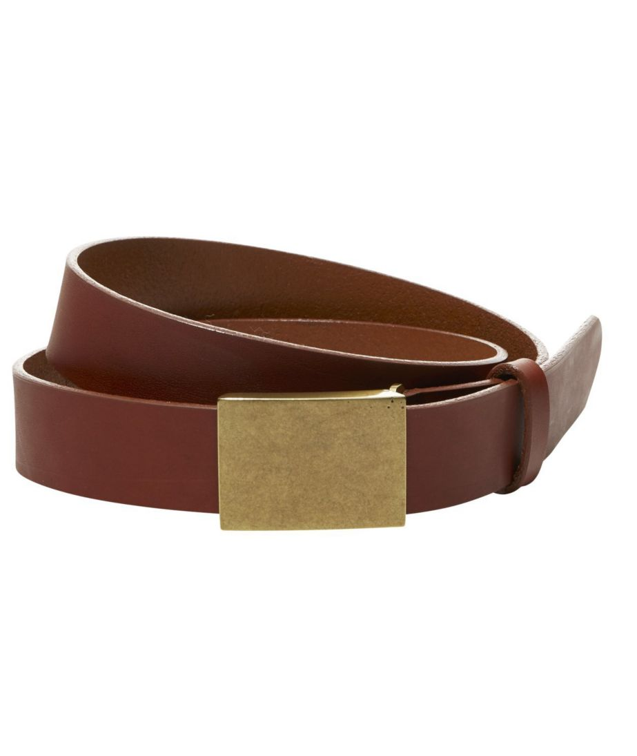 Signature Plaque Belt Men's