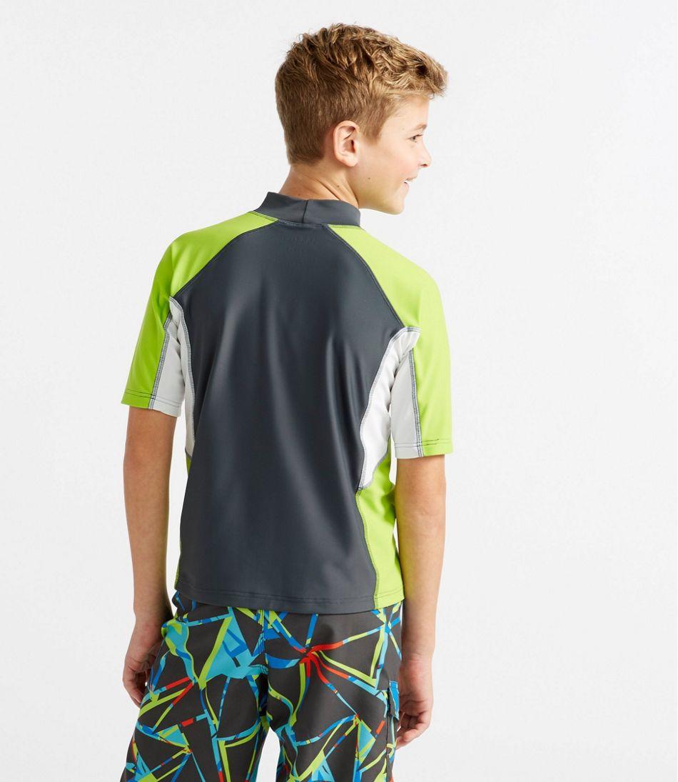 Boys' Sun-and-Surf Shirt, Short-Sleeve Colorblock