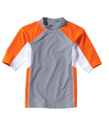 Boys' Sun-and-Surf Shirt, Short-Sleeve Colorblock