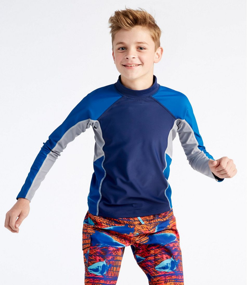 Boys' Sun-and-Surf Shirt, Long-Sleeve Colorblock