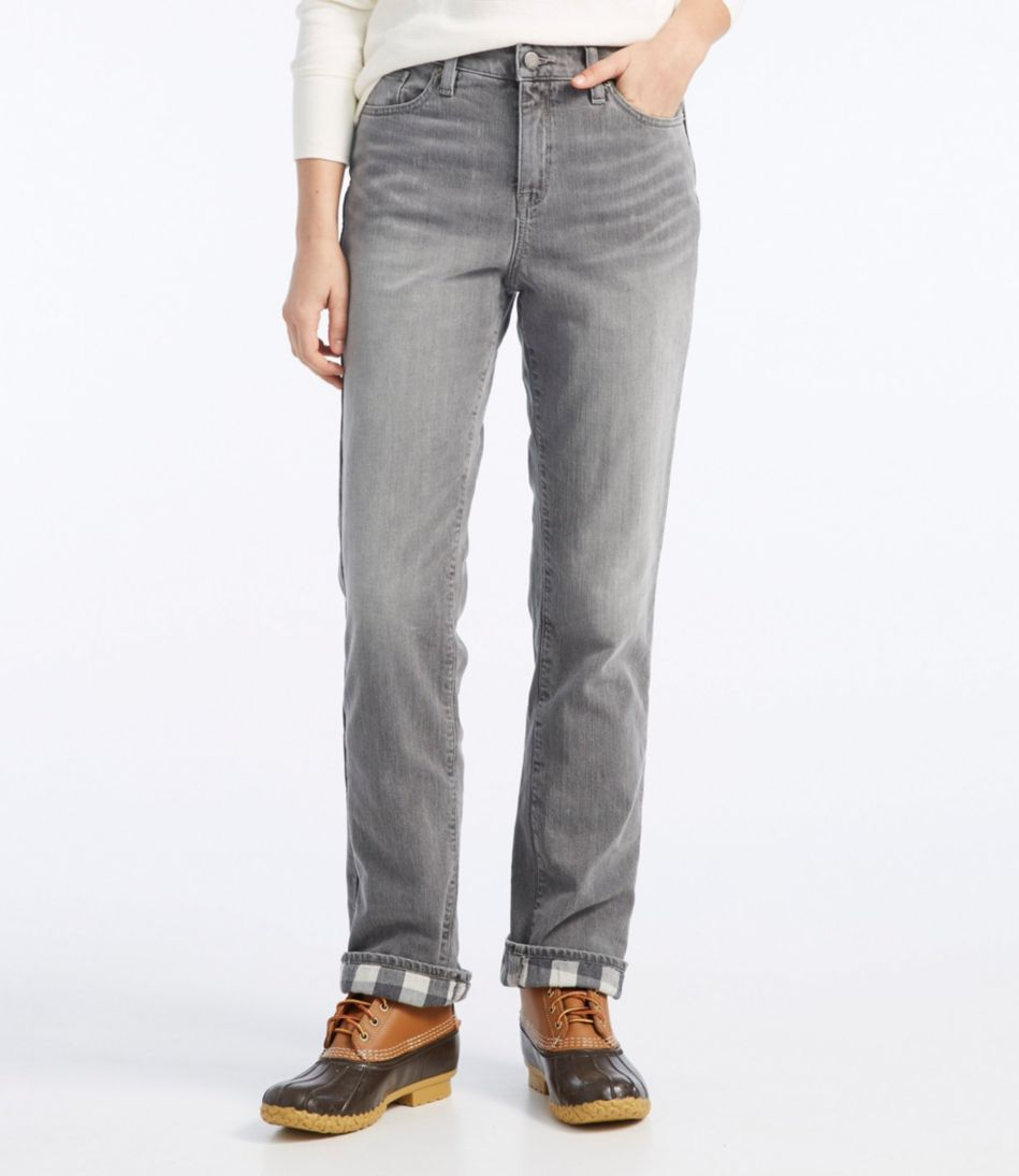 L.L.Bean 1912 Jeans, Classic Fit Straight-Leg Lined