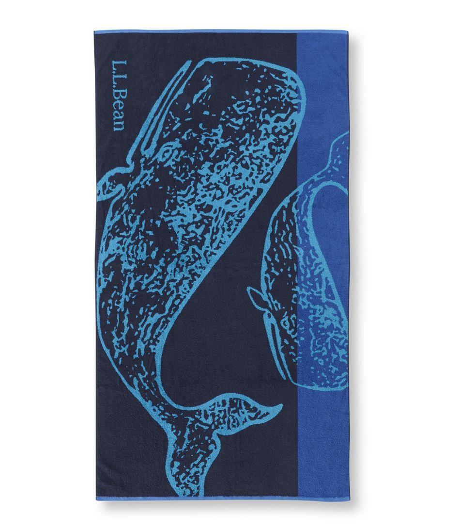 Seaside Beach Towel, Whale
