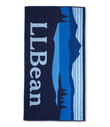 Seaside Beach Towel, L.L.Bean Logo