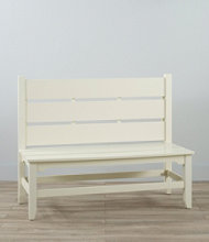 Painted Cottage Slat Bench