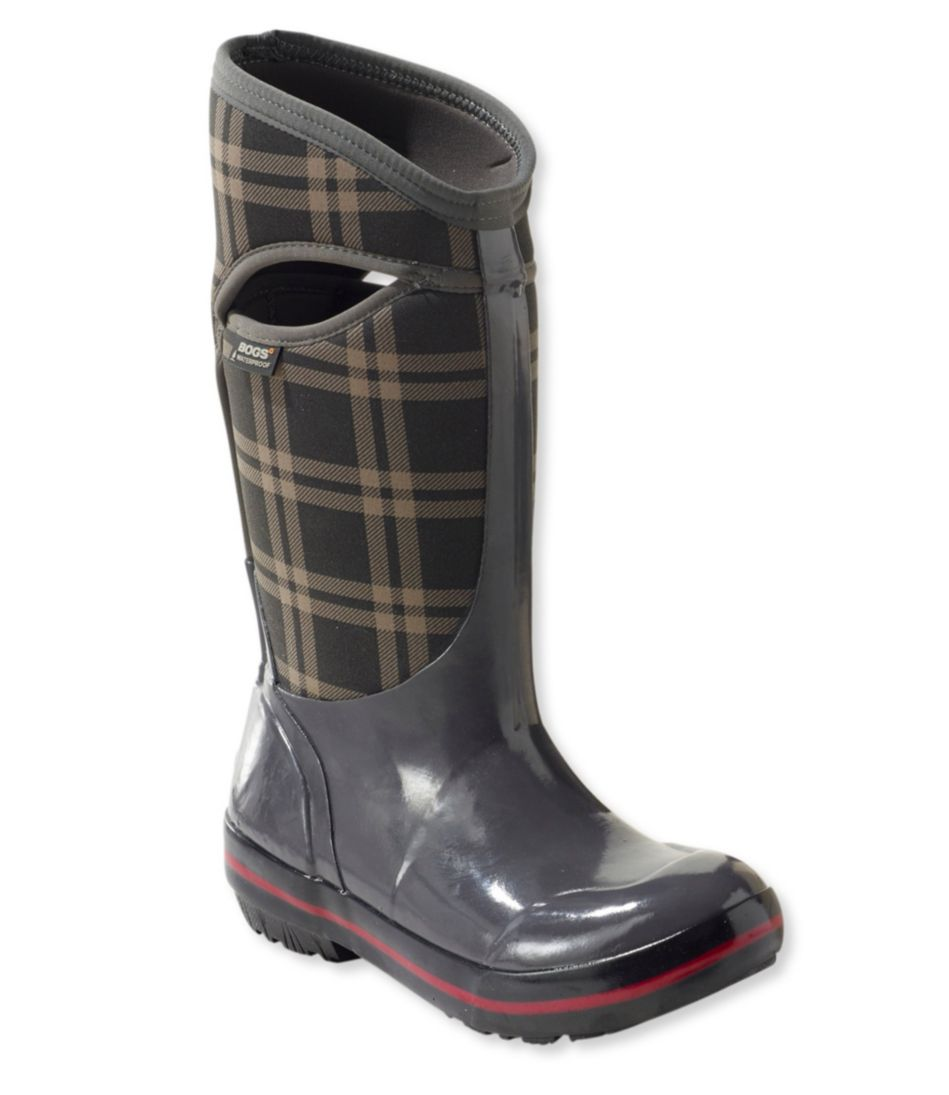 Bogs Plimsoll Boots, Tall Plaid