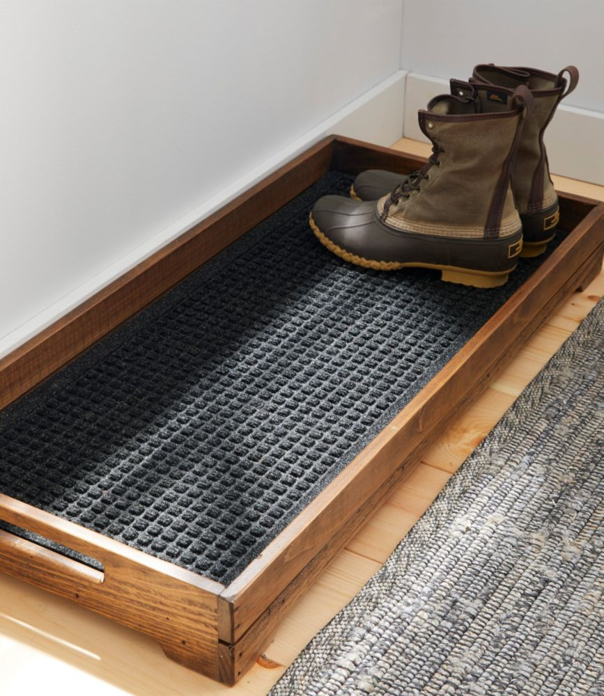 Picture of: Rustic Wooden Boot Tray