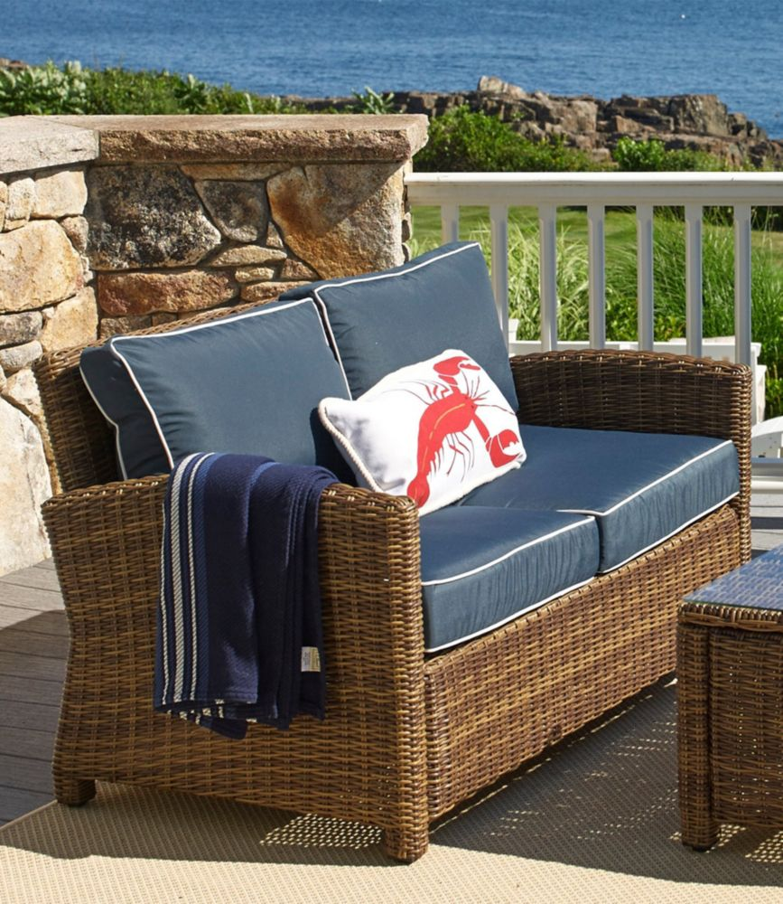 Outdoor Wicker Patio Love Seat   Free Shipping At L.L.Bean.