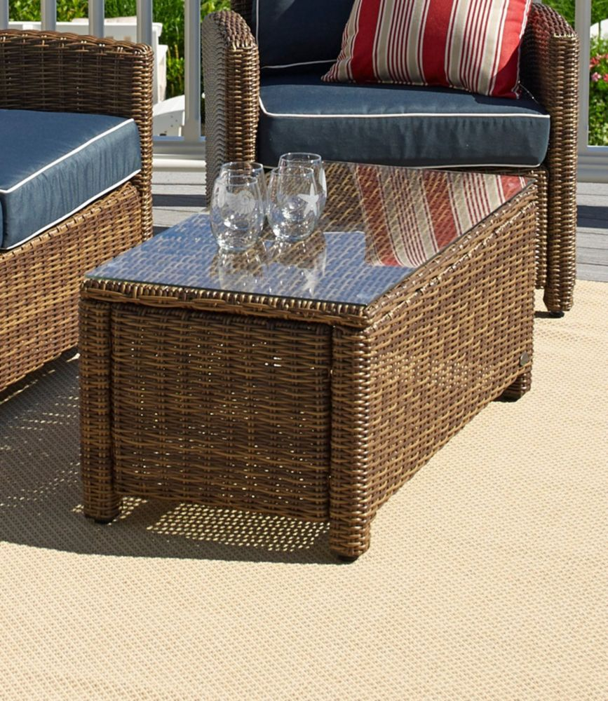 Outdoor Wicker Glass Top Table | Free Shipping At L.L.Bean.
