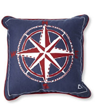 Canvas Throw Pillow, Compass