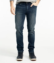 Signature Five-Pocket Jeans with Stretch, Slim Straight