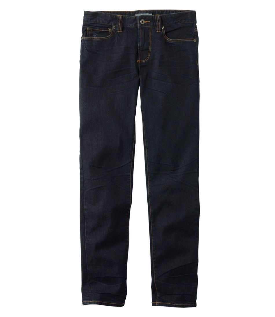 Men's Signature Five-Pocket Jeans with Stretch, Slim Straight