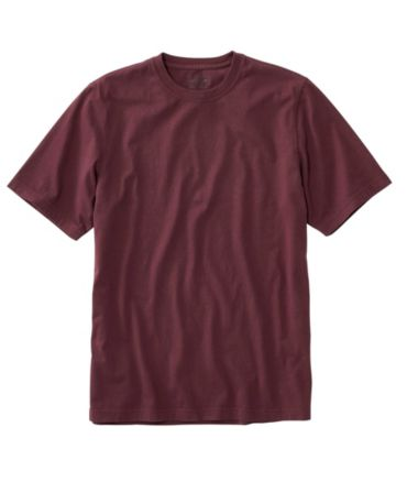 Lakewashed Garment-Dyed Cotton Crewneck Tee, Slightly Fitted Short-Sleeve