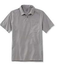 Lakewashed Garment-Dyed Cotton Polo, Slightly Fitted Short-Sleeve