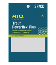 Rio Powerflex Plus 9' Tapered Leaders, 2-Pack