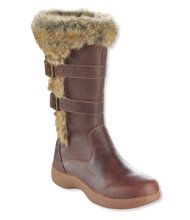 Women's Insulated Nordic Casual Leather Boots, Waterproof