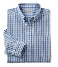 Wrinkle-Free Vacationland Shirt, Slim Fit Long-Sleeve Plaid
