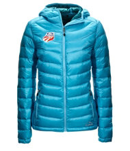 Women's Ultralight 850 Down Hooded Jacket, U.S. Ski Team