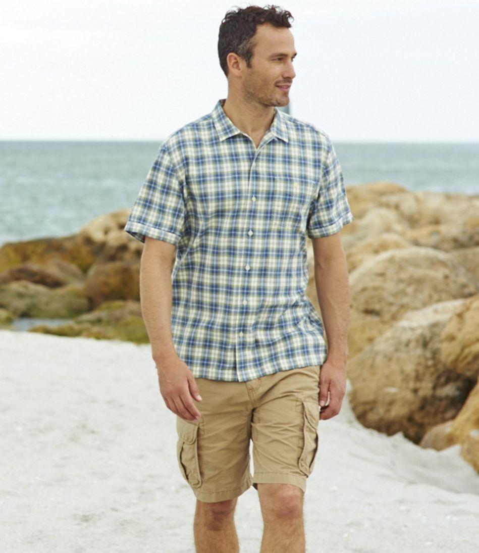 Men's Lightweight Camp Shirt, Slightly Fitted Short-Sleeve