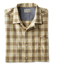 Lightweight Camp Shirt, Slightly Fitted Short-Sleeve
